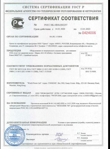 Сертификат и декларации ProfBeauty